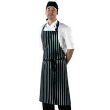 Dennys Large Cotton Striped Apron Chefs Clothing Kitchen Wear Cooks (DP85)