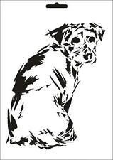 Muro stencil pittore T-SHIRT STENCIL w-630 cane ~ design UMR