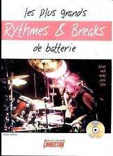 LES PLUS GRANDS RYTHMES & BREAKS DE BATTERIE - AVEC CD - PARTITION - SONGBOOK