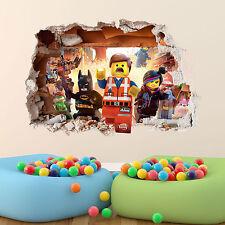 LEGO Movie Wall Sticker 3d ragazzi ragazze camera da letto Vinile Wall Art Decalcomania