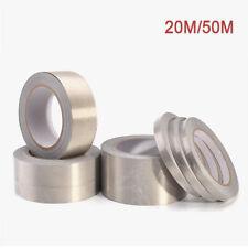 20M/50M Conductive Fabric Cloth Adhesive Tape Roll Shield Repair EMI Multi-Width