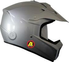 FIA Cross Helm silber mit Hans Clips Beltenick 8859-2015 Kart Cross helmet