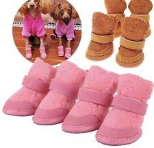 CUTE DOG PUPPY di alta qualità in pelle scamosciata Scarpe Stivali Stivaletti Rosa Marrone X 4-CONSEGNA GRATUITA