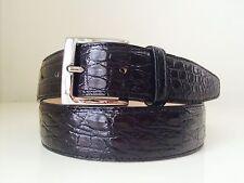 GENUINE Black CROCODILE LEATHER SKIN MEN'S BELT size XS 26. NEW! last one