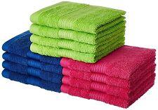 100% Cotton 12 Piece Face Towel Set, 500 GSM (Multi-Color)