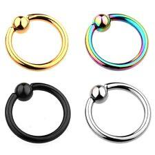 6 mm - 19 mm anello con pallina SETTO BCR LABBRA Helix Trago Captive anello