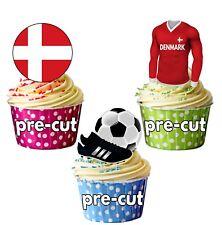 Precortadas Comestibles Dinamarca Fútbol Copa Mundial 2018 Adornos de Cupcake