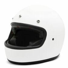 Helm The Maverick Mattweiß, Integralhelm, Full Face Helmet Flat White