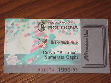 BOLOGNA INTER BIGLIETTO TICKET CALCIO 1990/91 SERIE A
