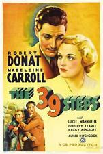 THE 39 STEPS HITCHCOCK VINTAGE MOVIE POSTER  FILM A4 A3 ART PRINT CINEMA