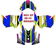 SKI DOO SNOWMOBILE DECAL WRAP KIT REV,XP, XR,XS,XM 03-16 MOSAIC BASIC STICKER