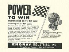 Vintage & Rare 1961 Engray Go-Kart Engine Ad