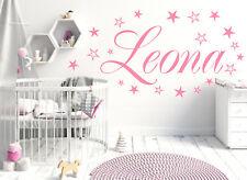 Wandtattoo Aufkleber AA120  Kinderzimmer  Wunsch-Namen  20 Sterne viele Farben