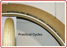 """Schwalbe 28"""" x 2.0 / 700c Fat Frank Tyre CREAM + Reflective Strip 29er Cruiser"""
