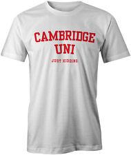 Cambridge Uni bromeando gracioso Estilo Estudiante Camiseta Moda Tee Top