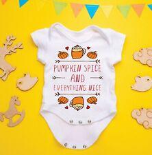 Pumpkin Spice, Everything Nice Funny Baby Gerber Onesie