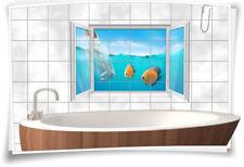 Fliesenaufkleber Fliesenbild Fliesen Unterwasser Fische Deko Aufkleber Bad WC