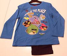 Pyjama Set Schlafanzug Jungen Angry Birds blau schwarz Größe 104 116 128 140 #60