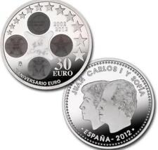 MONEDAS CONMEMORATIVAS DE PLATA DE  ESPAÑA 30€: DESDE AÑO 2012 HASTA AÑO 2018.