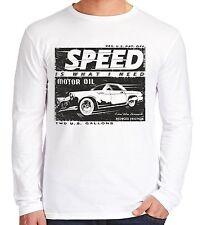 Velocitee homme à manches longues t shirt vitesse vintage années 50 ford thunderbird V107