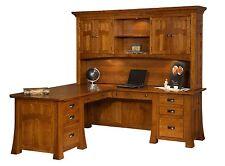 Solid Wood Corner DesksLShaped Desks Office Furniture  eBay