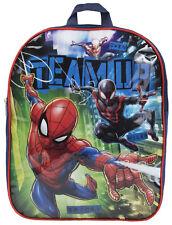 Marvel Spiderman Garçons Sac à dos équipe enfants école déjeuner sac Super Héros Sac à dos