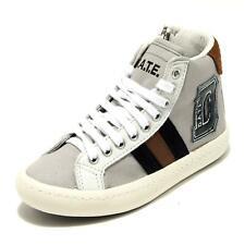 5156G sneaker bimbo grigia D.A.T.E. kids hill high canvas drill gray scarpa shoe