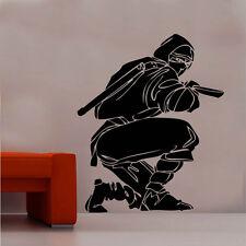 Ninja Fighter Vinilo etiquetas de pared arte Samurai Japonesa Oriental Espada