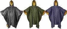 Rain Poncho Reversible PVC Poncho Blue Black Green Yellow