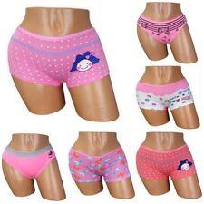 6 Mädchen Baumwolle Panty Hipster Slips Unterwäsche Panties Unterhose Kinder Hot