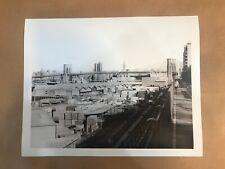 View looking north from Robert Moses Promenade Brooklyn Bridge 11x14 Iris Print