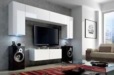 Wohnwand Hängend Tv Wand Fernseherschrank Concept 2 Hochglanz Hängwand Matt  LED