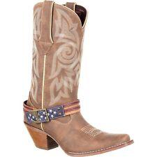 Durango Ladies Khaki Flag Accessory Shank Strap Western Boots DRD0208