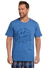 Schiesser Men's Mix & Relax Short Sleeve T-Shirt Size 48-66 S-7XL Leisure Shirt