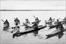 Poster, Many Sizes; Eskimos In Kayaks, Noatak, Alaska 1929