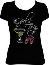 Girls Trip Margarita Flip Flops Bling Rhinestone Shirt, Vacation Shirt VA46
