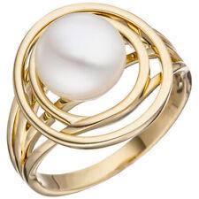 Anillo Mujer 14k (585) Oro Amarillo 1 PERLA DE AGUA DULCE