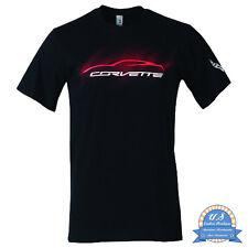 Corvette T-Shirt - Corvette C7 Stingray Silhouette - Schwarz - lizensiert