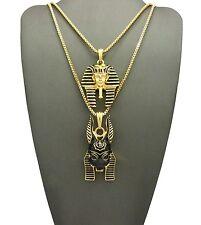 Egyptian Pharaoh King, God Anubis Pendant Various Chain 2 Necklace Set