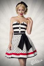 Trägerloses Kleid Rockabilly 50er Vintage Retro Party Kostüm Gogo Tanz WOW SALE