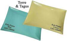 "Torre & Tagus KALA Ceramic Rectangle Platter 18"" Celery Blue Dish Plate Server"