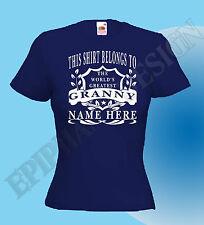 Abuela Niñera Camiseta Personalizado Añadir TU NOMBRE GENIAL Grand madre