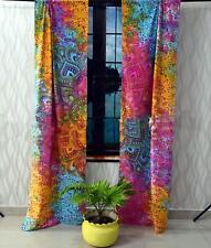 Multi Color Mandala Curtain Boho Window Treatment Set Balcony Door Hanging Drape