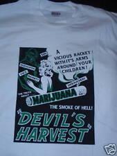 Devil's Harvest Shirt Marijuana Smoke Of Hell Sz. L-XL
