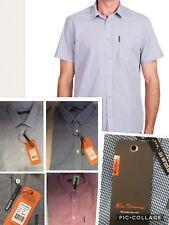 Ben Sherman Gingham Button Thru Work or Casual Shirt. Free Post
