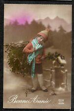 CPA COULEUR BONNE ANNEE ENFANT GUI HOUX DIX Paris 2586 30 décembre 1922