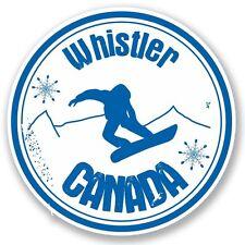 2 x Whistler Canada Snowboard Vinyl Sticker Laptop Travel Luggage #4711
