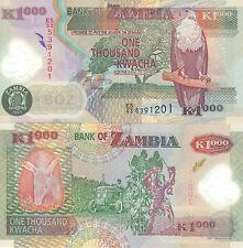 MULTI-VARIATION LISTING 4 denominations kwacha banknotes of Zambia UNC