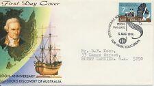 Postmark Australia International Music Education on Captain Cook Seven Seas FDC