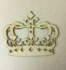 Wooden Princess crown craft blank laser cut 3 mm mdf thick craft shape